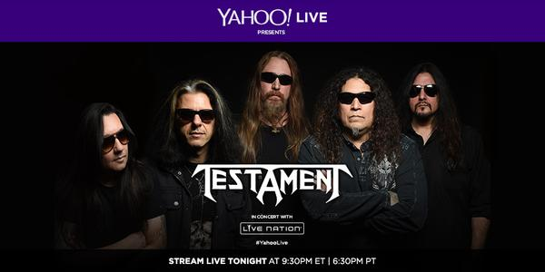 Watch Testament LIVE at The Fillmore Tonight 9.30pm