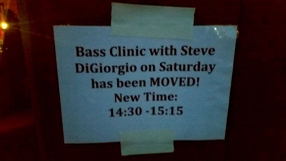 New Time for SDG Bass Clinic tomorrow at Midgardsblot