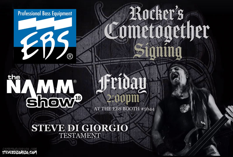 Join Steve Di Giorgio on the EBS Booth at NAMM 18 this friday
